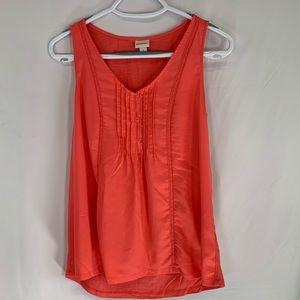 Orange red sleeveless top